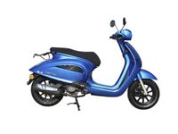 NEW AJS INSETTO 125CC SCOOTER, BLUE, FOR £9.71 PER WEEK