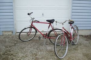 MATCHING LADIES AND MENS ROAD KING BIKES T.EATON COMPANY TORONTO
