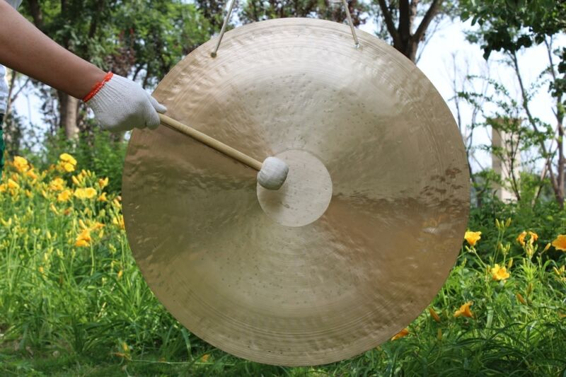 "36""/90cm Wind gong with mallet Beautiful face & excellent sound"