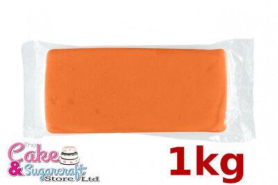 Sugarpaste Icing Halloween Orange M&B Ready to Roll Luxury 1kg Bulk Discount