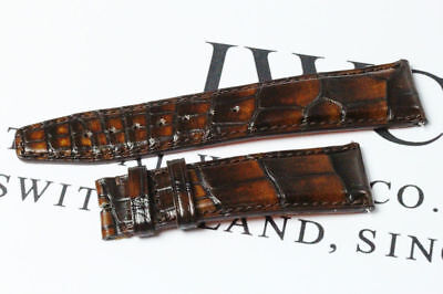 Original IWC Santoni Lederarmband 22mm Armband Alligator Strap AVS12512 AD4