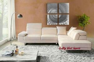 Trendy Real Leather Sectional Sofa * BRAND NEW from Factory