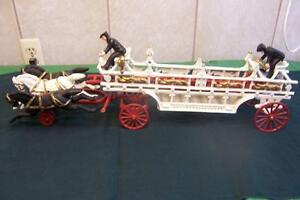 ANTIQUE   CAST IRON FIRE TRUCK