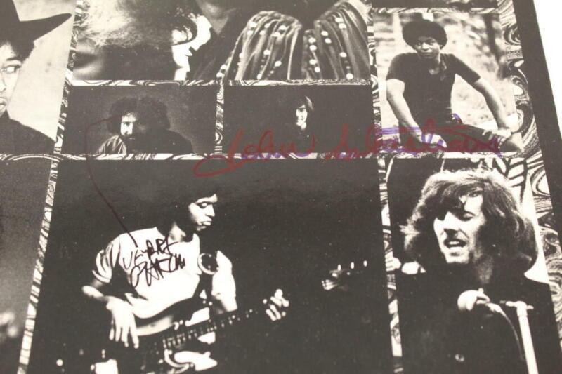 JERRY GARCIA & JOHN SEBASTIAN SIGNED AUTOGRAPH ALBUM RECORD - GRATEFUL DEAD REAL