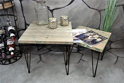 Beistelltisch Couchtisch Hairpin Metall Industrie Look Vintage Loft Living - Schlafzimmer Metall Beistelltisch
