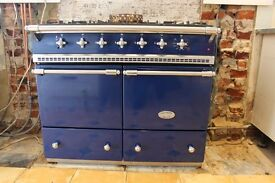 Lacanche Cluny 100cm Dual Fuel blue with chrome fittings