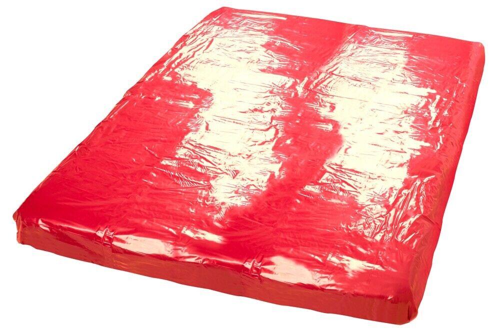 BettLaken ROT 200x230cm HYGIENE Erotik Sex Fun Spielwiese PVC Latex Gummi XXL