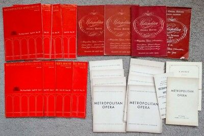 1950's 1960's Vintage METROPOLITAN OPERA & ROYAL BALLET Archive PROGRAM LOT