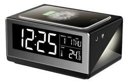 Boytone BT-12B Alarm Clock + Fast Wireless Charger for Compatible Smartphone NEW