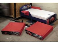 Cars cartoon feature todler bed