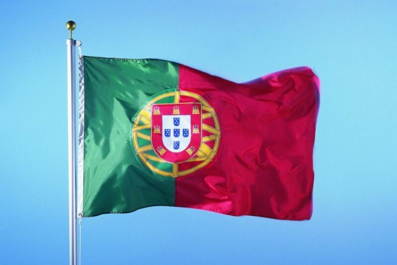 PORTUGAL PORTUGUESE FOOTBALL FANS SUPPORTER FLAG WITH EYELETS LARGE 5 x 3FT