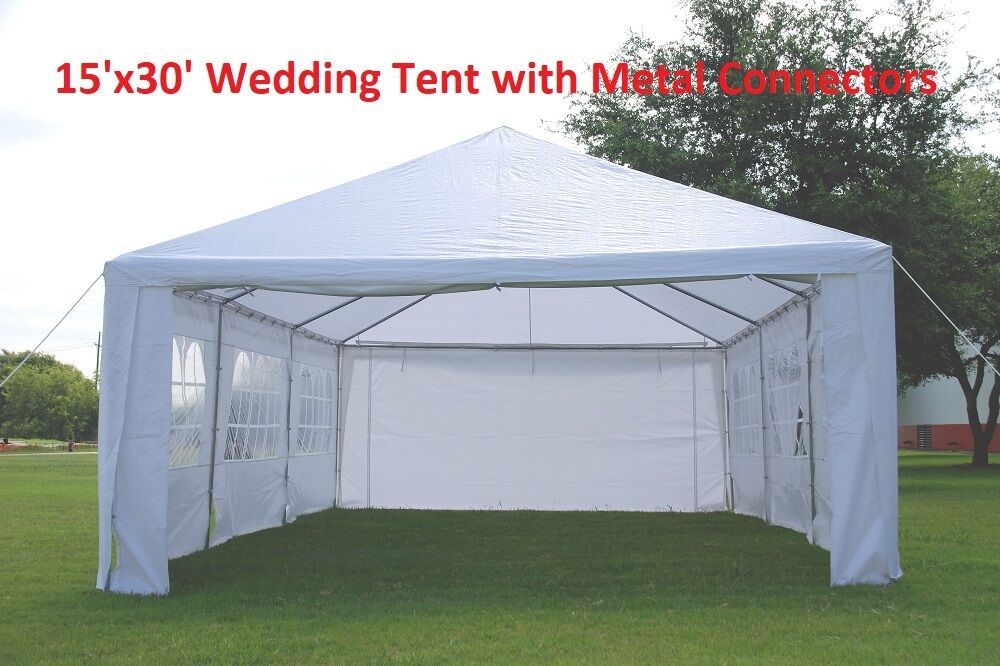 Wedding Party Tent Gazebo Canopy W Metal Connectors