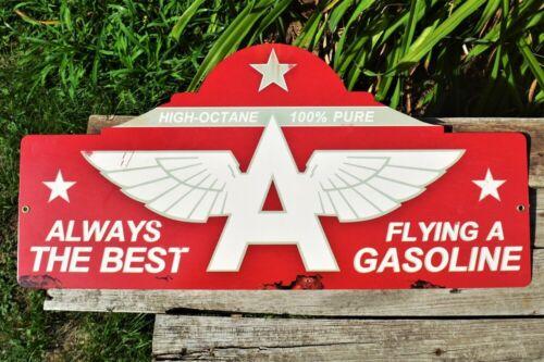 Flying A Gasoline Steel Metal Sign - Tidewater Company - Gas & Motor Oil - Tydol