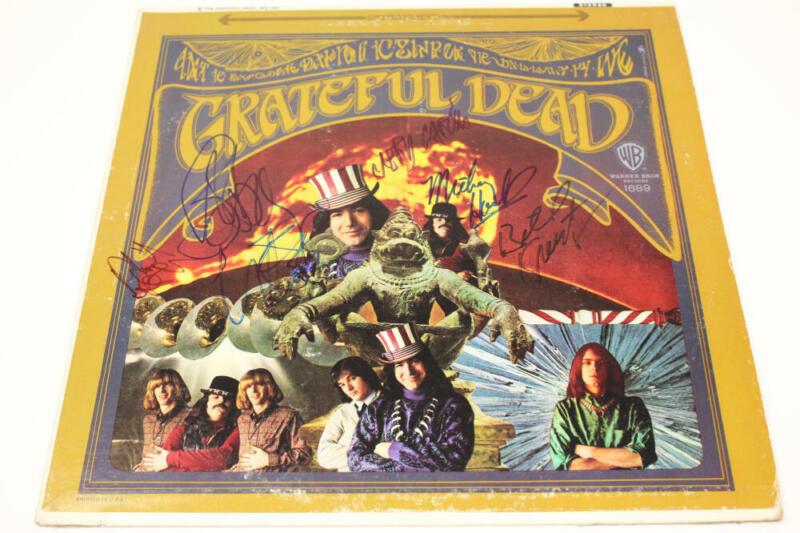 GRATEFUL DEAD COMPLETE X5 BAND SIGNED ALBUM VINYL RECORD -JERRY GARCIA BAS JSA