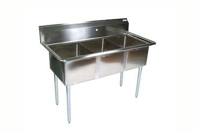 Bk Resources Three Compartment Sink 16 X 20 X 12 Bowls No Drainboards
