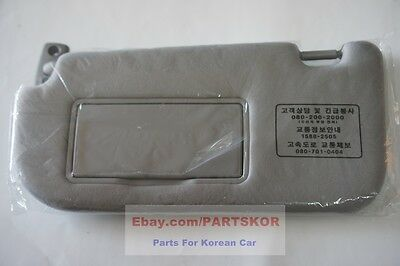 Fit 2005-2009 KIA Sportage OEM Genuine Parts Interior LH Sun Visor (Left, GRAY)