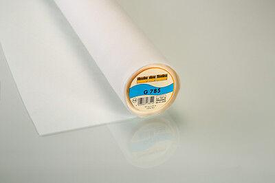 0,50m Gewebeeinlage G785 fixierbar 90cm breit Vlieseline weiß
