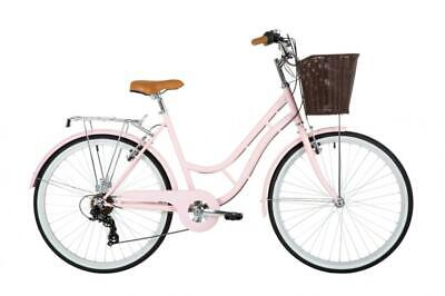 "Classic Heritage Ladies Heritage Bike 26"" Wheel 7 Speed Dutch Style Bicycle Pink"