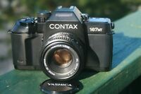 Contax 167MT film SLR, with Yashica 50mm 1.9 lens