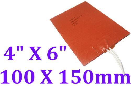"4"" X 6"" 100 X 150mm 25W NO 3M adhesive Heating Pad JSRGO  Silicone Heater"