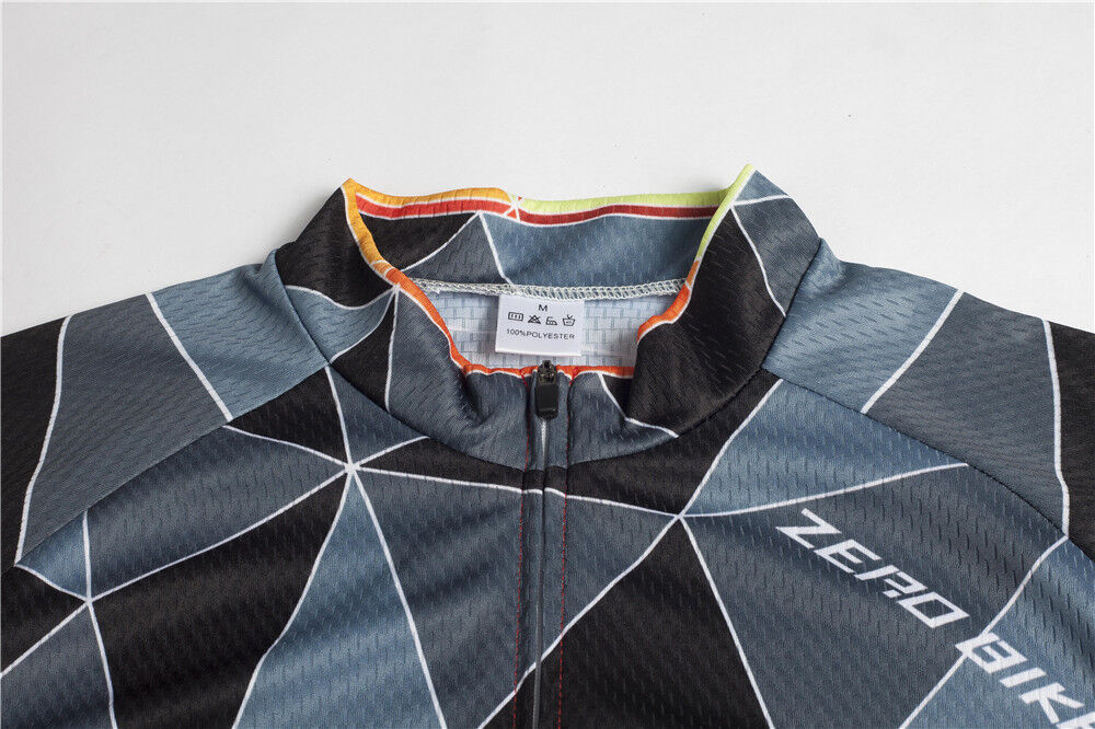 New Cool Mens Cycling Sports Short Sleeve Jersey Gears Bike Riding Shirt Outfits