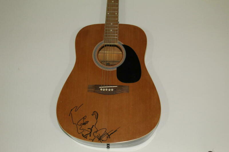 DAVE MATTHEWS SIGNED GIBSON ACOUSTIC GUITAR WITH SKETCH - BAND, VERY RARE! PSA