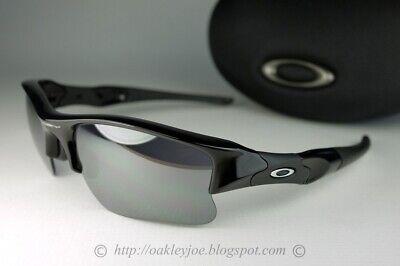 Oakley Flak Jacket XLJ Sunglasses 03-915 Jet Black Frame W/ Black Iridium Lens