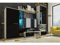 Living Room Furniture Set TV Unit Cabinet Stand Cupboard Wall Shelves NEW Modern
