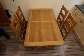 Dining / Kitchen table & Chairs - Solid Oak