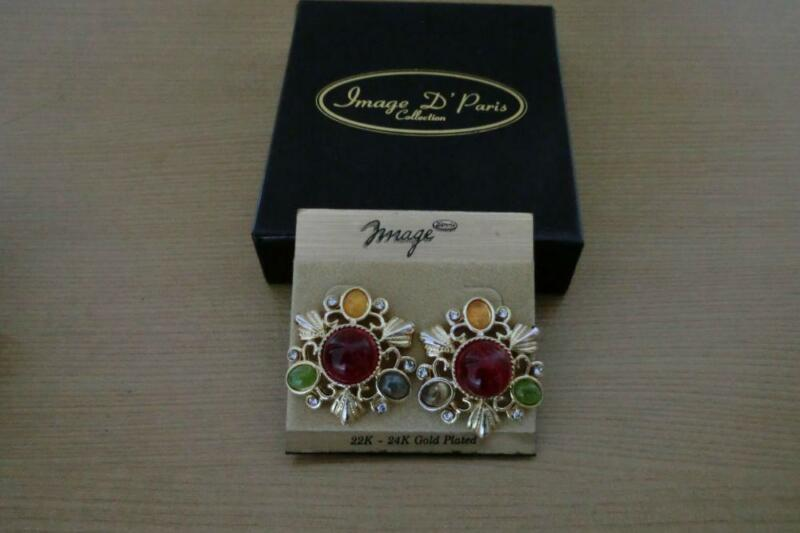 Branded: Image D'Paris Earrings (Multi-colored stones)