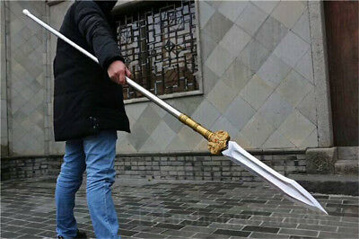 86' 1095 HIGH CARBON STEEL BLADE HAND MADE CHINESE SWORD DAO (双鳯霸王枪)