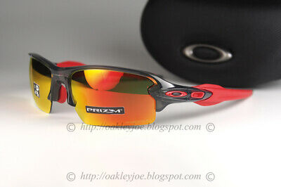 Oakley Flak 2.0 Sunglasses OO9271-30 Grey smoke Frame W/ PRIZM Ruby Lens (AF)