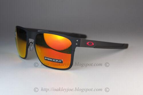 Oakley HOLBROOK METAL Sunglasses OO4123-1255 Matte Black Frame W/ PRIZM Ruby
