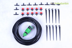 10m Garden Drip System Adjustable Irrigation Drippers Sprinklers Emitter Nozzle