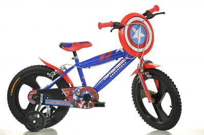 "Dino Captain America Red Kids Boys Bike Bicycle 16"" MAG Pneumatic Wheel 416UL-CA"