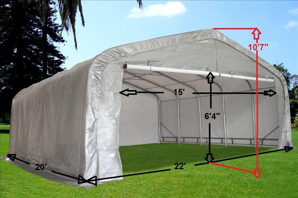 stl shelterlogic garage round portable canopy x grey