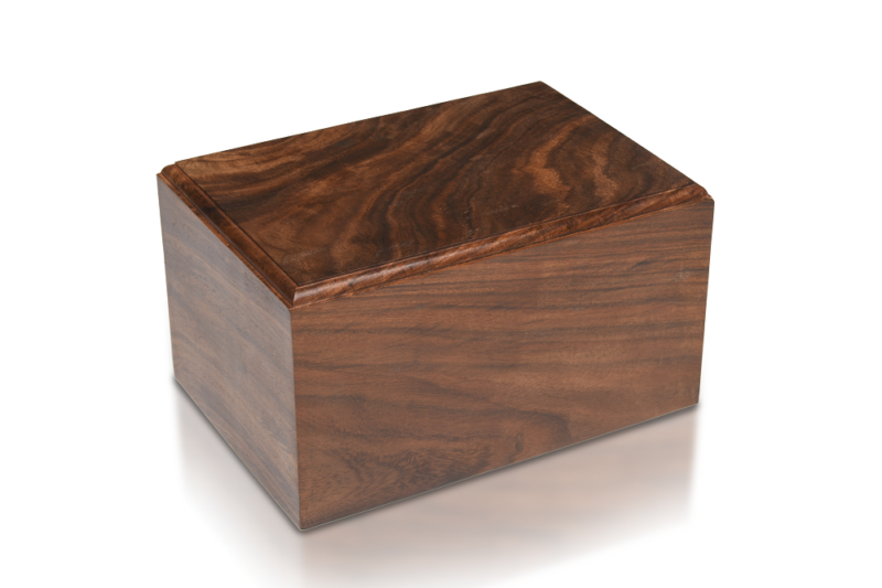 Simple Rosewood Cremation Urn - Bargain! - XL Size