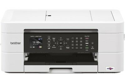 Brother Multifunktionsdrucker Tinte MFC-J497DW 4-in-1 WLAN Duplex weiß