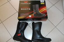 TORQUE Unisex Black Motorcycle Boots Size 7 (fit 81/2) Exc Cond Wagga Wagga 2650 Wagga Wagga City Preview