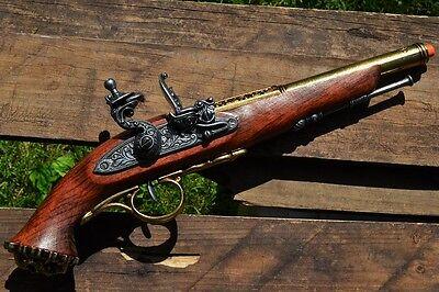 18th Century Flintlock Pistol - Revolutionary War - Pirate Skull - Denix Replica