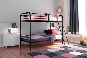 NEW DHP Twin Over Twin, Metal Bunk Bed, Black Condition: New