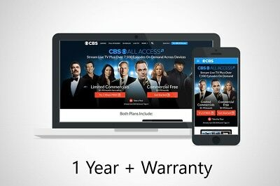 Cbs All Access Commercial Free   1 Year   Fast Delivery   Warranty