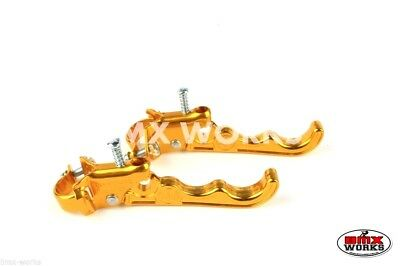 Dia-Compe MX121 Tech 3 Old School Vintage BMX Brake Levers Pair Gold
