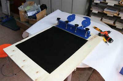 Open Box 1 Color Screen Printing Press Diy Shirt Clamp Printer With Rubber Pad