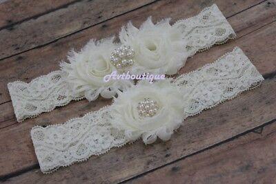 Ivory garter wedding thigh plus size bridal belt prom gift US seller](Plus Size Wedding Garter)