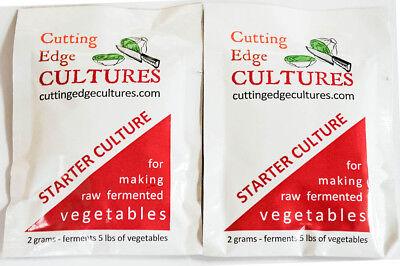 Cutting Edge Cultures Vegetable Starter Fermentation Culture, 2 Pouches, 4g
