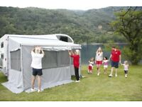 FIAMMA PRIVACY ROOM F45Ti260cm attaches to 250cm to 300cm awning making in Weather AND MIDGE FREE.