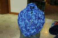 Gorgeous Multi Blues Hand Knit Infinity Scarf!