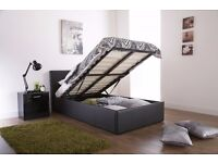 BLACK, BROWN ,WHITE, COLOURS AVAILABLE // SINGLE LEATHER STORAGE BED FRAME
