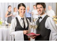 Waiter and waitress for a Restaurant and Bar